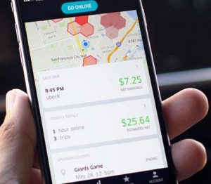 uber drivers app pay